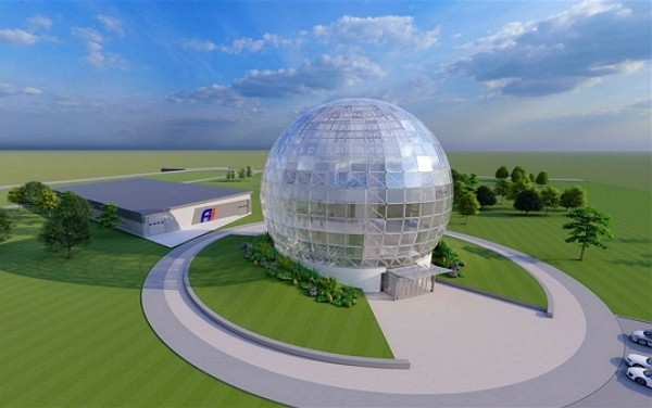 Graphic visualization of Foxconn's data center once its construction is completed. (Foxconn photo)