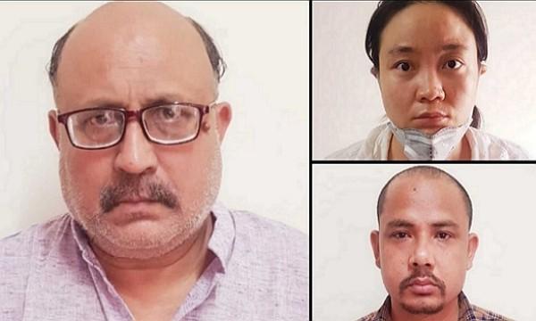 印度記者沙爾瑪(Rajeev Sharma)(圖左)、中國籍女子石青(Qing Shi)(圖右上)及尼泊爾籍男子辛格(Sher Singh...
