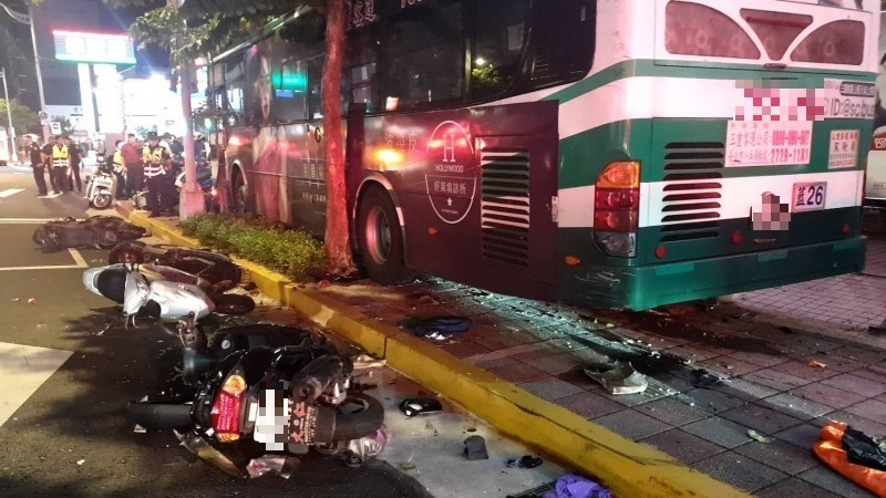 Scene of the accident. (Taipei Police Department photo)