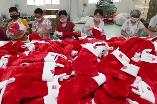 Factories in China suffer heavily from lack of Christmas orders.