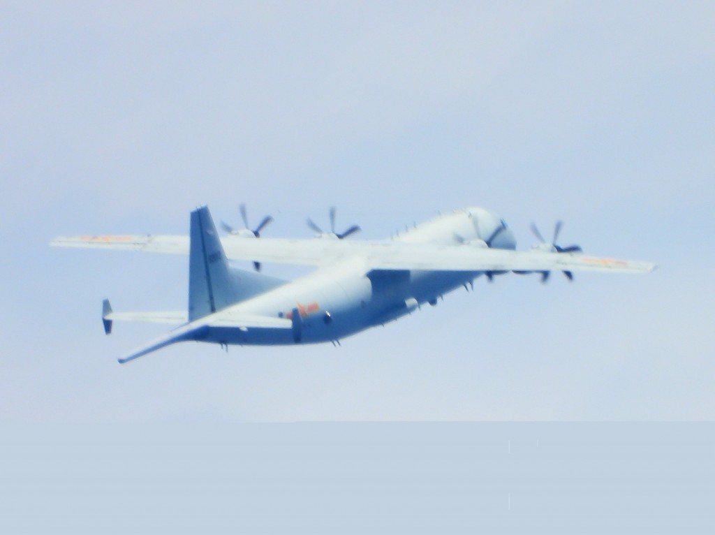 Y-8 anti-submarine aircraft spotted on Sept. 23. (MND photo)