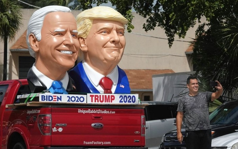 美國大選候選人拜登與川普頭像(圖/美聯社)