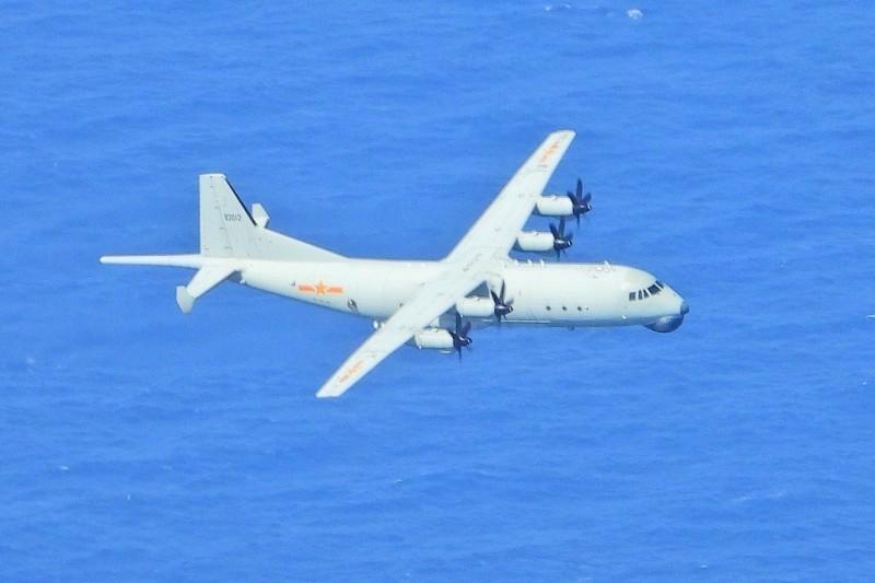 Shaanxi Y-8 anti-submarine warfare aircraft. (MND photo)