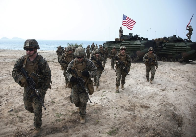 U.S.-Thai joint military exercise on Hat Yao beach in Chonburi province, eastern Thailand in 2018.