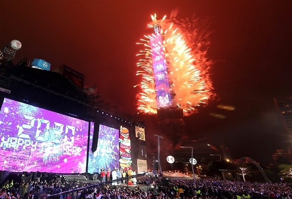 Taipei 101 New Year's Eve Fireworks to proceed as scheduled.