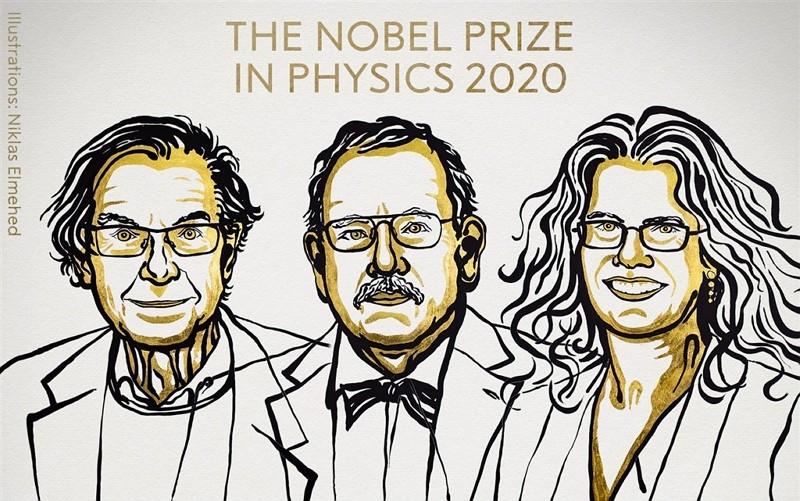 2020年諾貝爾物理學獎由學者潘羅斯(左)、根策爾(中)及吉茲(右 )獲得(圖/諾貝爾獎臉書)