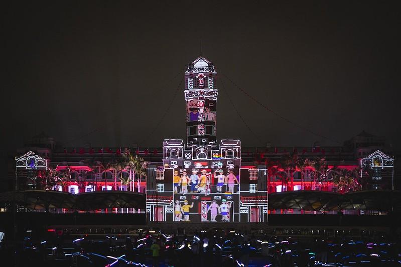 2020年國慶總統府建築光雕展演6日正式開幕(圖片來源:總統府提供)