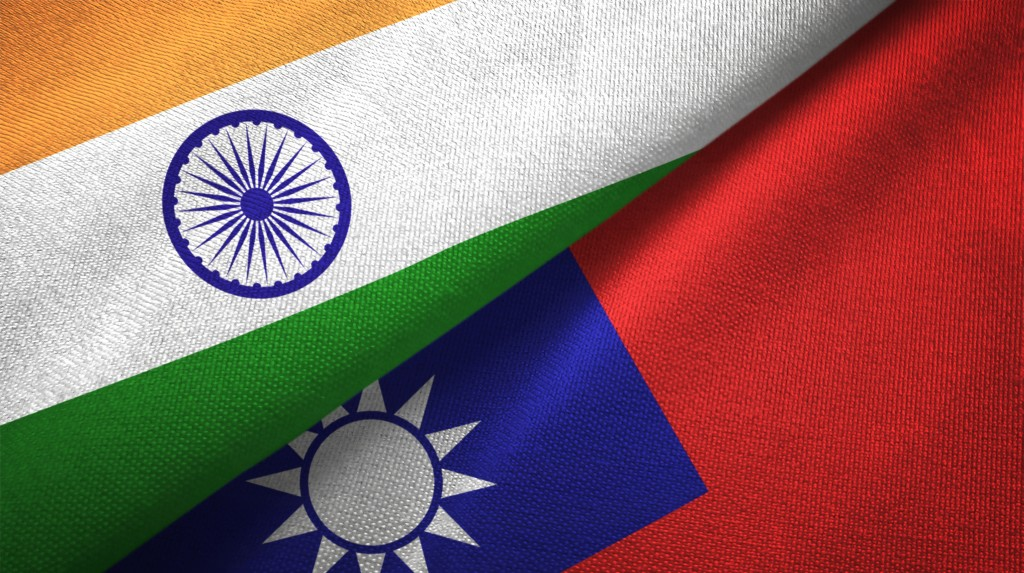 Taiwan and India flags (Getty Images)