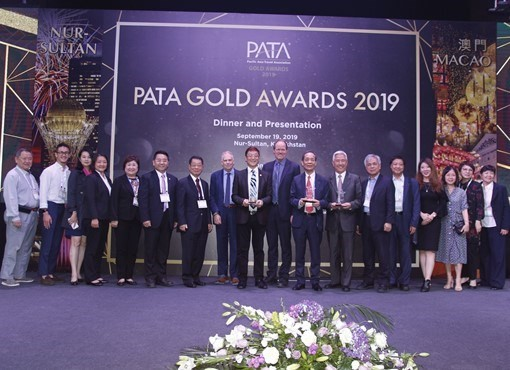 PATA Chinese Taipei at the 2019 PATA Gold Awards event. (PATA Chinese Taipei website)