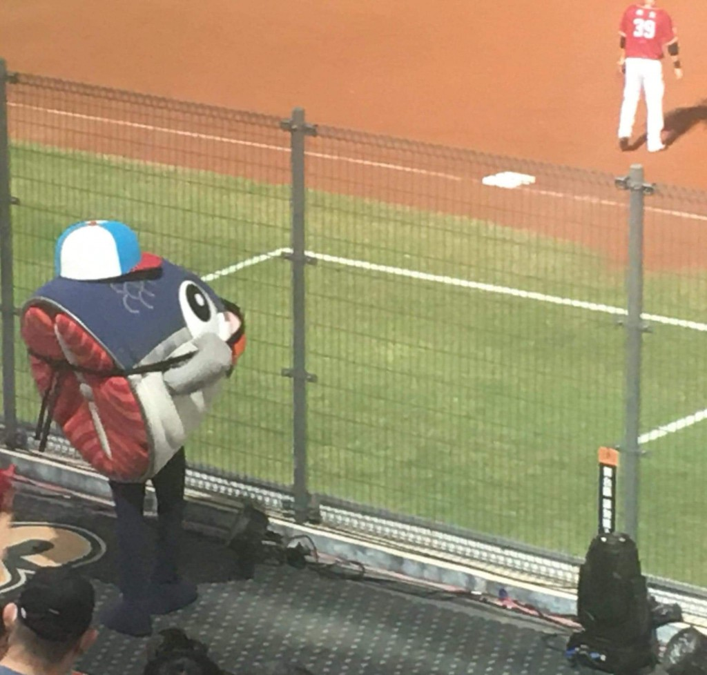 Photo of the Day: Severed fish head mascot spotted at Taiwan baseball game