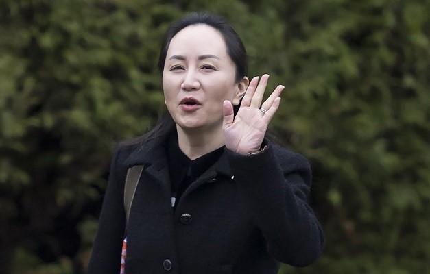 Huawei CFO Meng Wanzhou leaves home in Vancouver Jan.20, 2020.