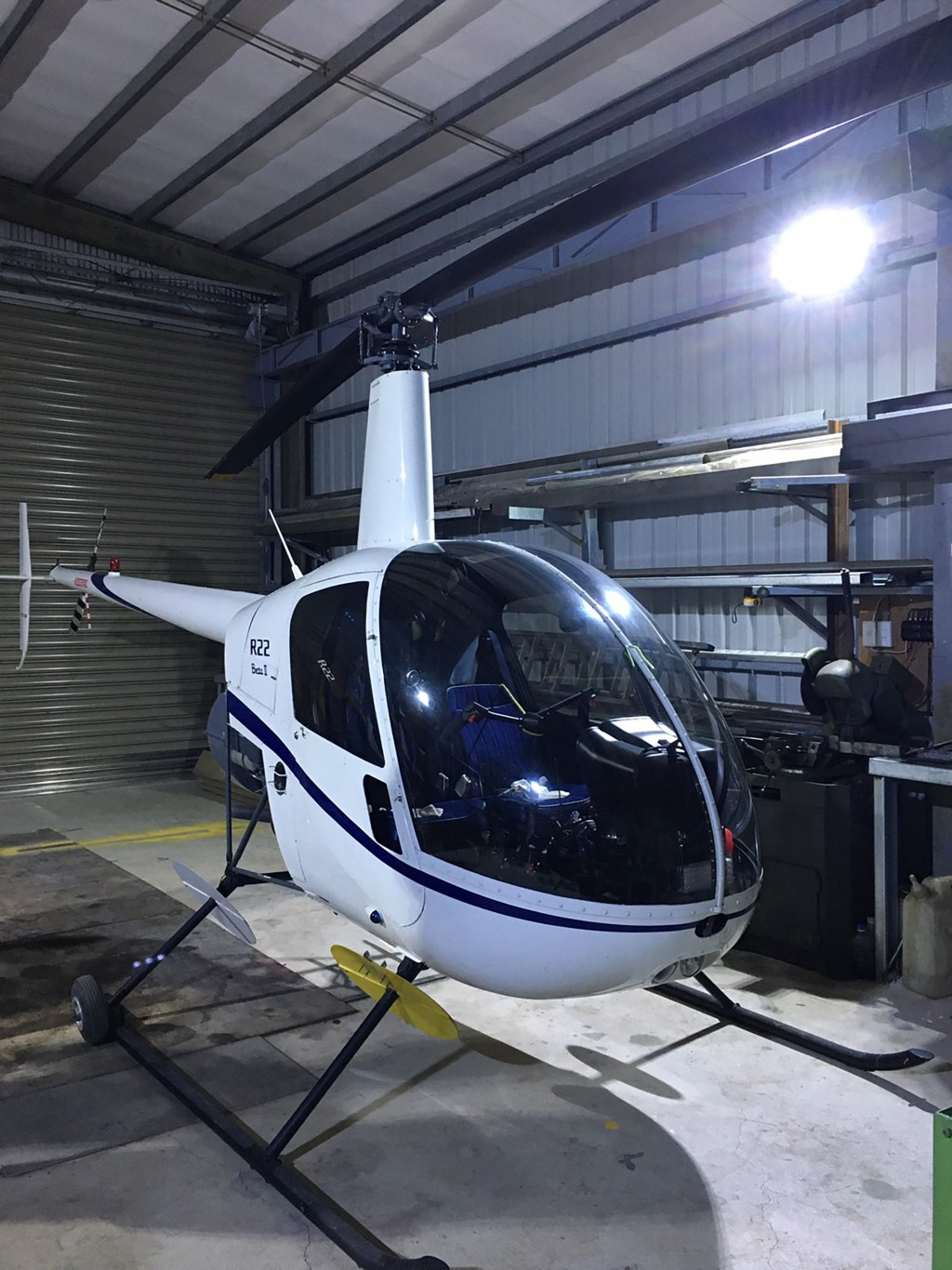 The owner showed his unlicensed helicopter to the police