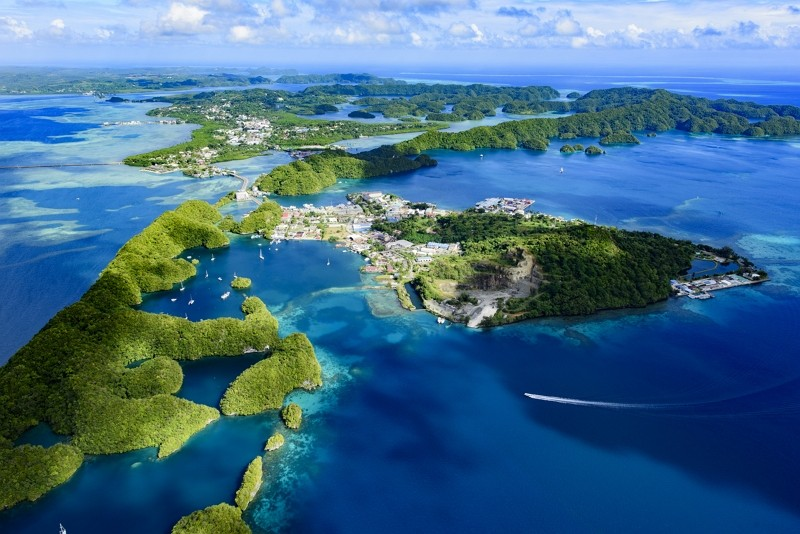 Full view of Palau Malakal Island and Koror (Getty Images photo)