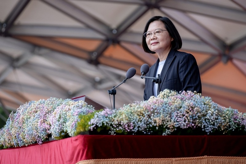 President Tsai Ing-wen delivers speech on National Day (Office of the President photo)