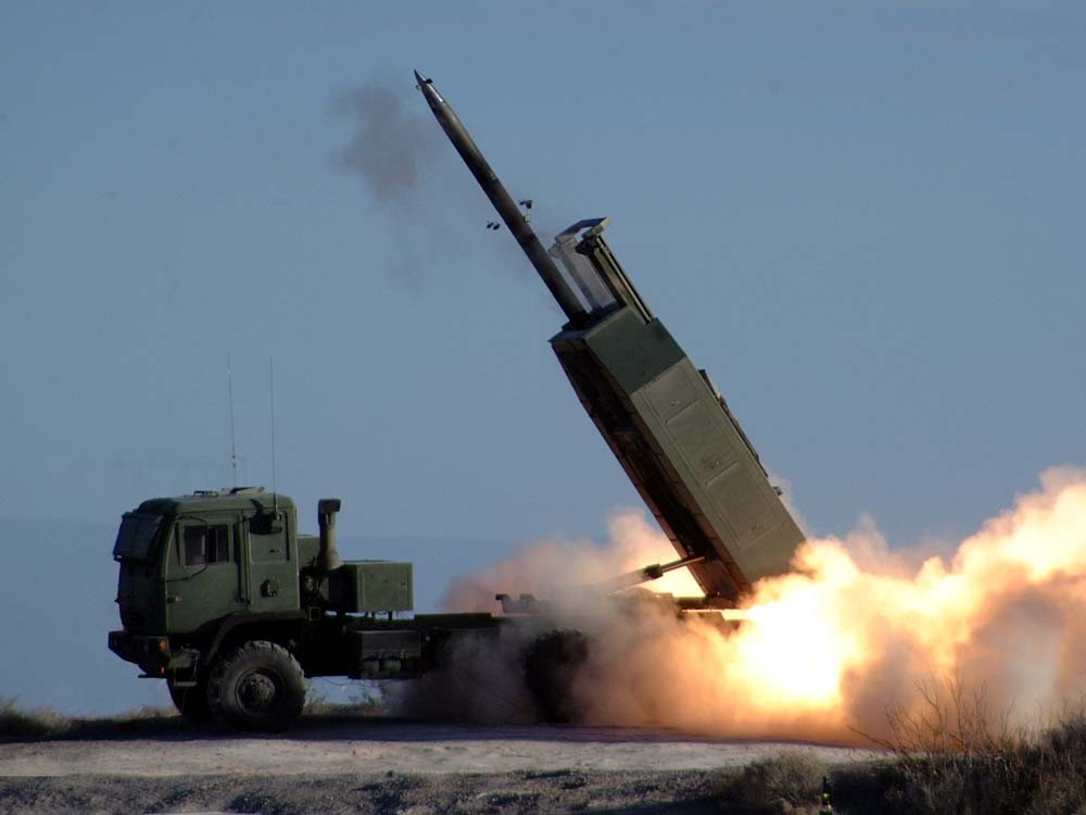 HIMARS test at White Sands Missile Range.