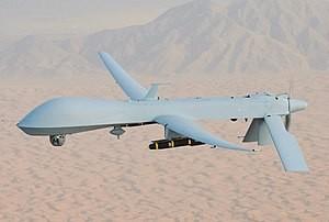 通用原子公司製造的「MQ-9收割者」無人偵察機(照片來源:Wikimedia Commons)