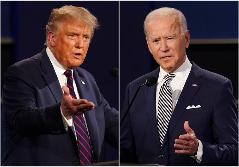 美國總統川普(左)、民主黨候選人拜登(圖/美聯社)
