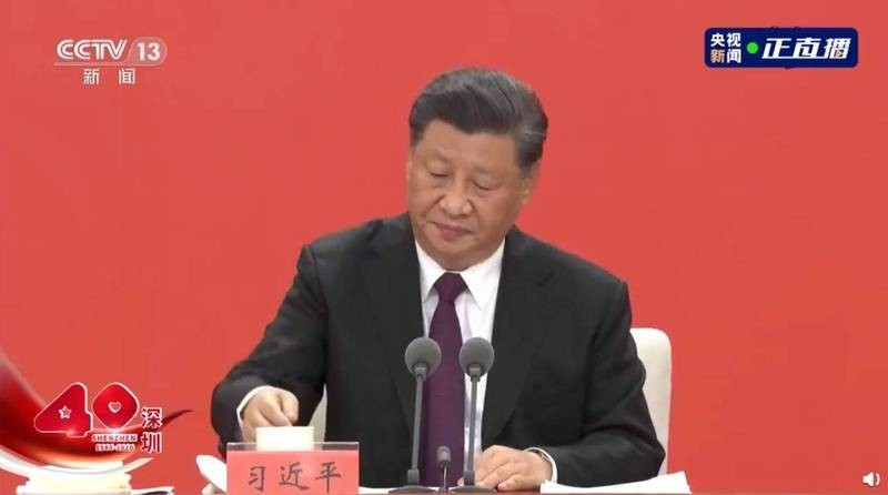 Video shows China's Xi suffer coughing fit during speech