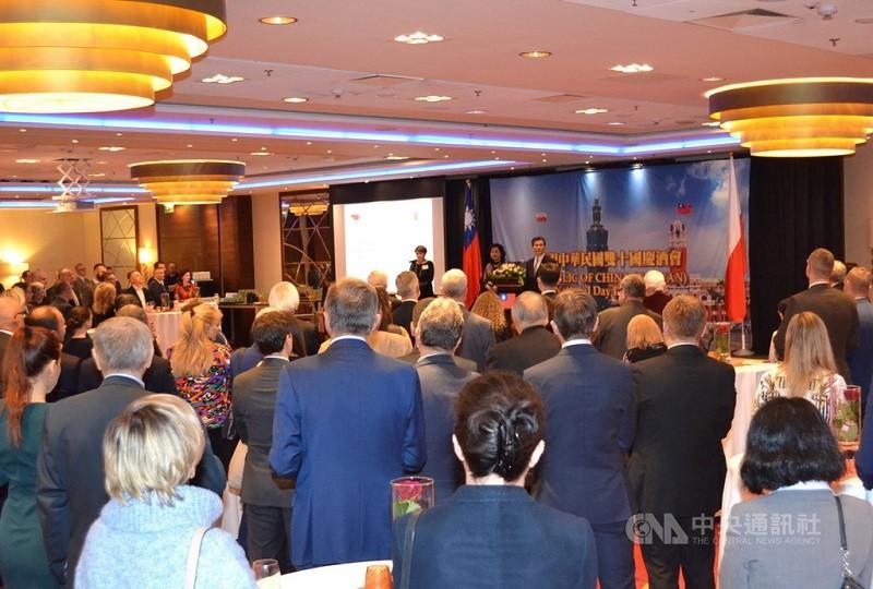 圖為駐波蘭代表處當地時間8日晚舉辦國慶酒會,多位政要出席。(駐波蘭代表處提供/中央社檔案照片)