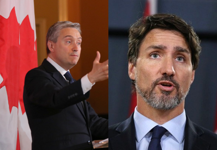 Canadian Foreign Minister Francois-Philippe Champagne, Prime Minister Justin Trudeau.