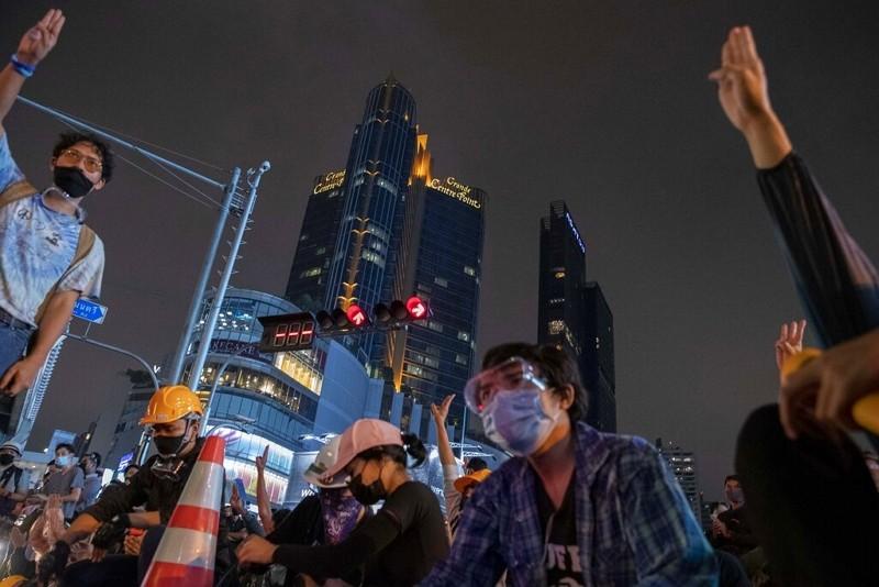 泰國反政府示威(圖/美聯社)