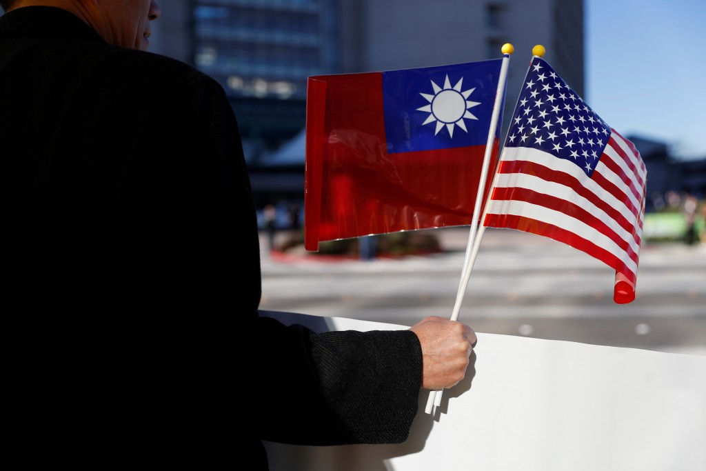 Taiwanese and American flags (Reuters photo)