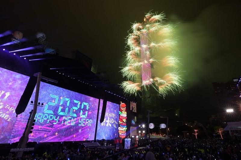 2020 Taipei New Year's Eve party (Taipei City Government photo)