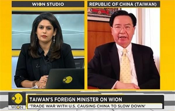 WION's Palki Sharma interviewed Joseph Wu Oct. 21. (WION screengrab)