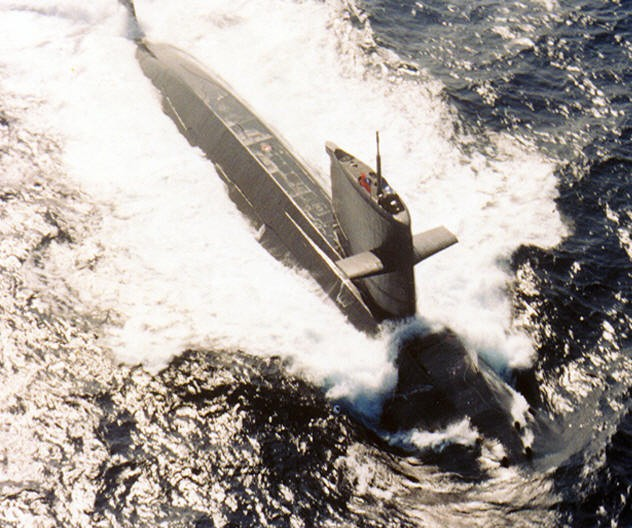 One of Taiwan's Dutch-built submarines (Navy photo)