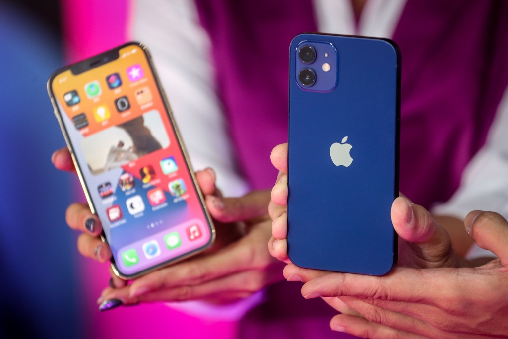 Blue is a popular color for the new iPhone 12 in Taiwan