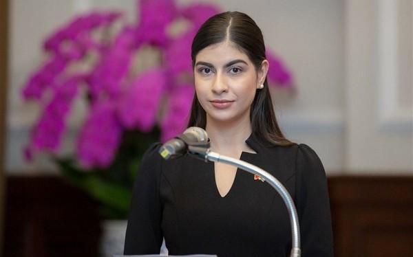 New Nicaragua Ambassador to Taiwan, Mirna Mariela Rivera Andino.