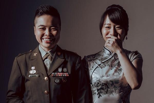 Wang Yiand Meng Yu-mei. (Facebook, Republic of China Army photo)