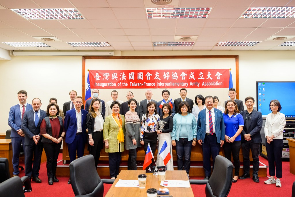 Taiwan legislature forms a new caucus to promote ties with France (Legislative Yuan photo)