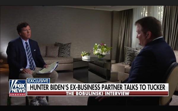 Tucker Carlson and Tony Bobulinski (Fox News video screenshot)