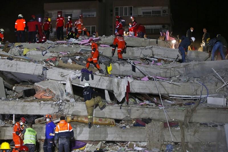 愛琴海30日發生規模7.0強震(美聯社)