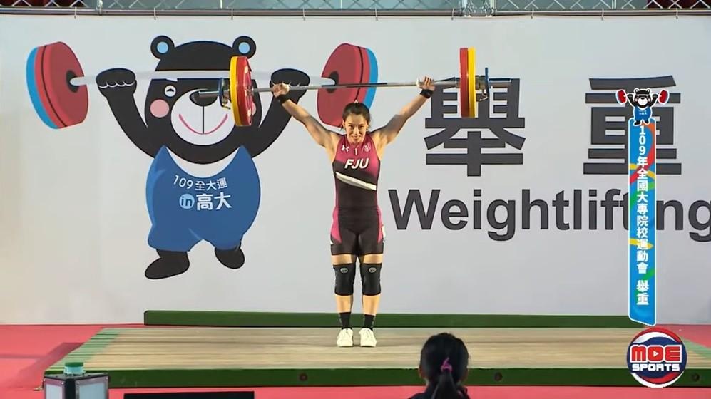 「舉重女神」郭婞淳(圖) 1日在全大運越級挑戰71公斤量級,以抓舉106公斤、挺舉137公斤、總和243公斤奪金。(<a hr...