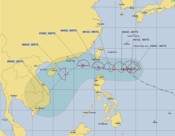 Taiwan could issue sea warning for Tropical Storm Atsani
