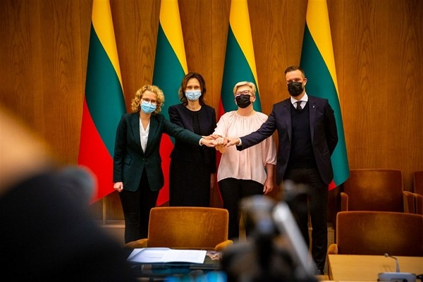 Leaders ofLithuania's new ruling coalition. (Facebook,Homeland Union photo)