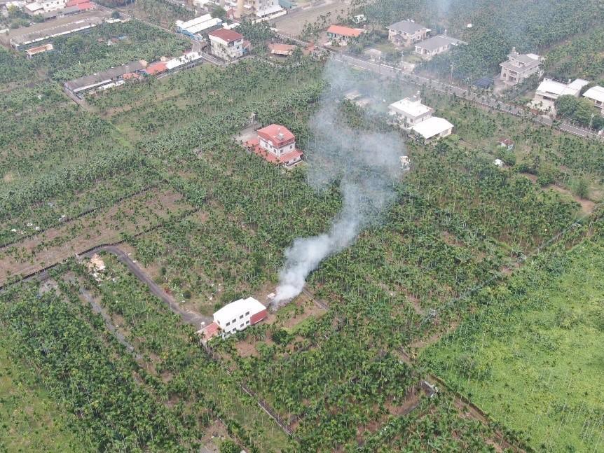 遏阻露天燃燒改善空品 台灣中南部環保局出動60架次無人機加強稽查