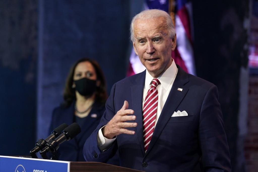Biden at press conference in Wilmington, Delaware