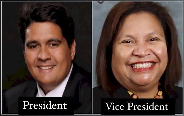 Palau President-electSurangel Whipps Jr. and Vice President-electUduch Senior. (Twitter, Surangel Whipps Jr. photo)