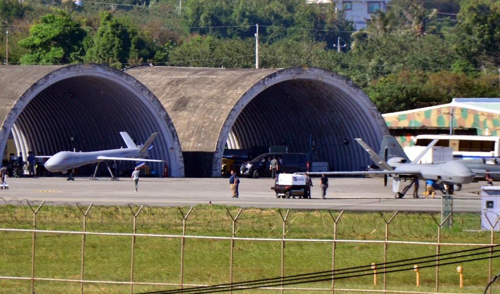 Teng Yun UAVs at an Air Force base in Taitung County