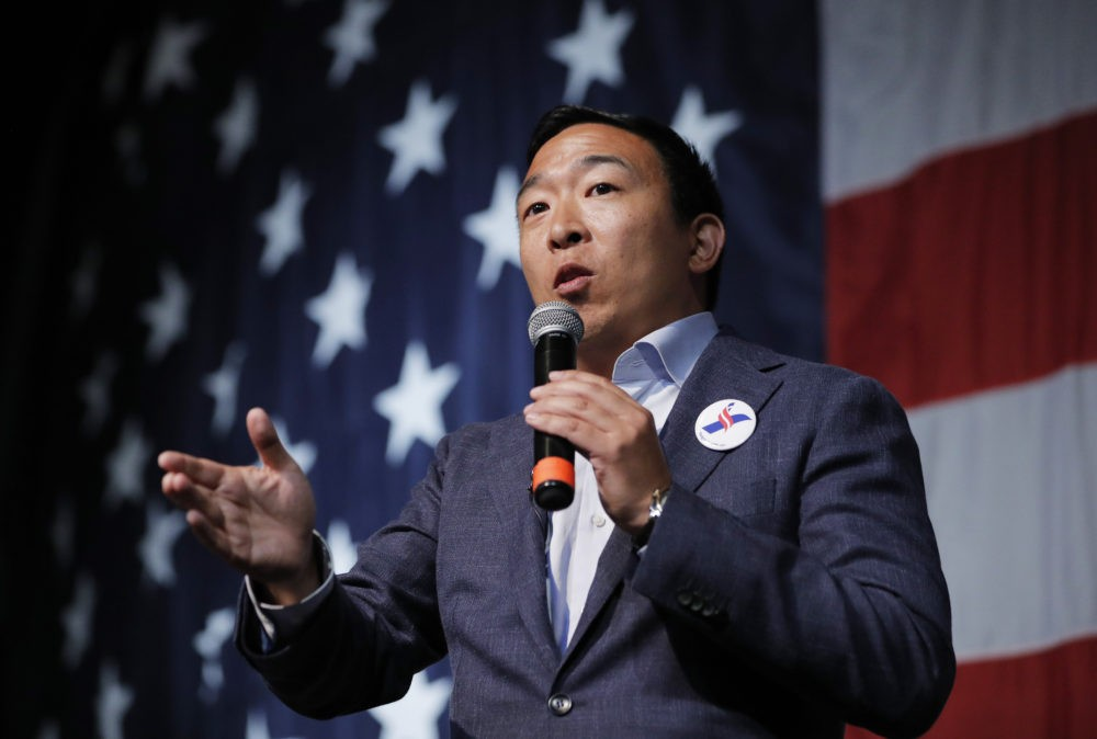 Andrew Yang during his presidential campaign