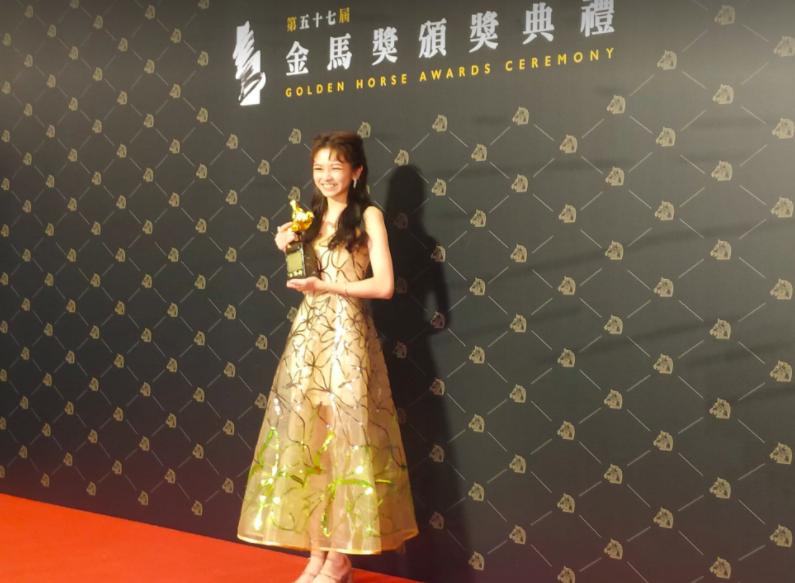陳妍霏以《無聲》獲最佳新演員(圖/台灣英文新聞)