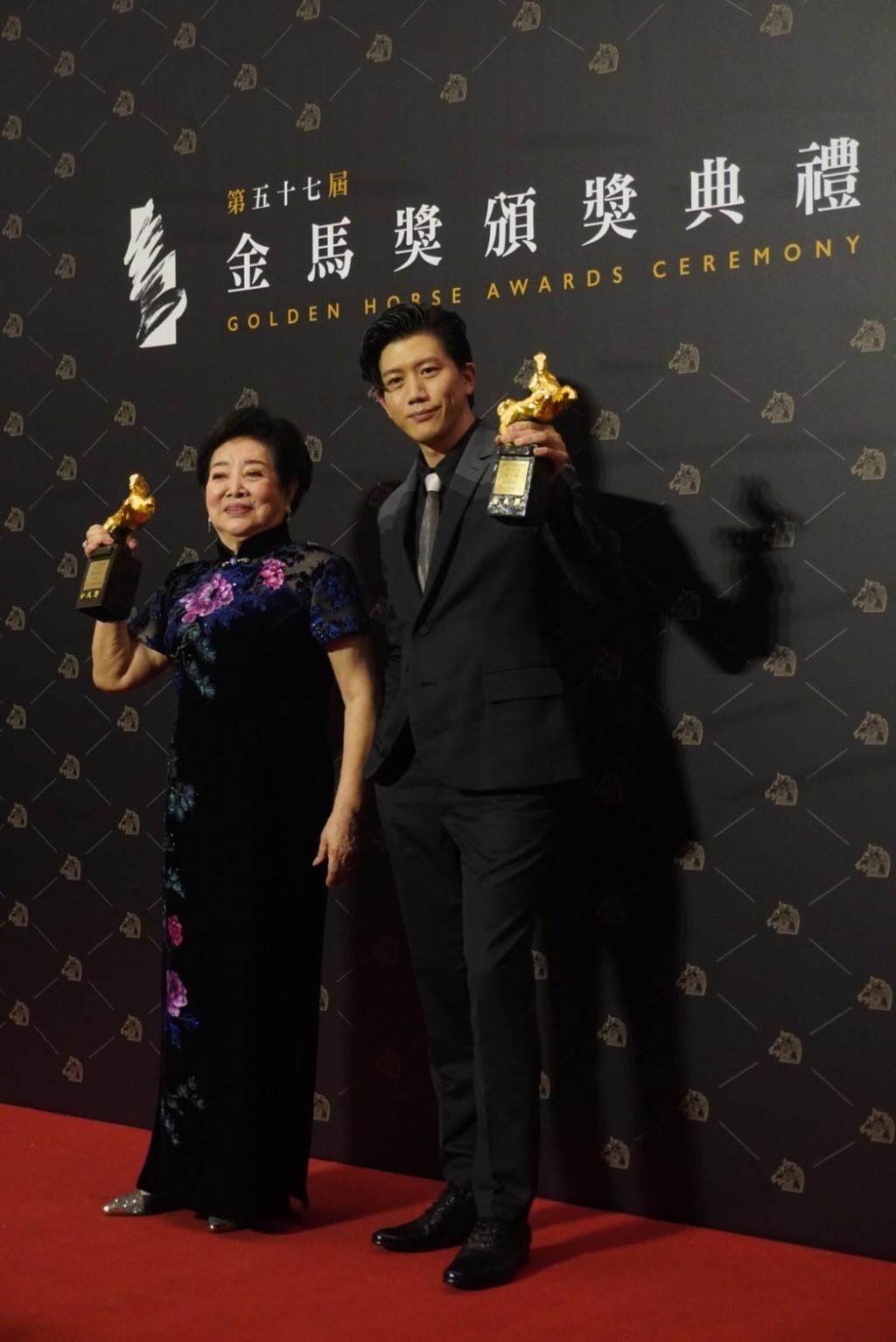 'Big Little Women' leading actress Chen Shu-fang (left) and 'Dear Tenant' leading actor Mo Tzu-yi.