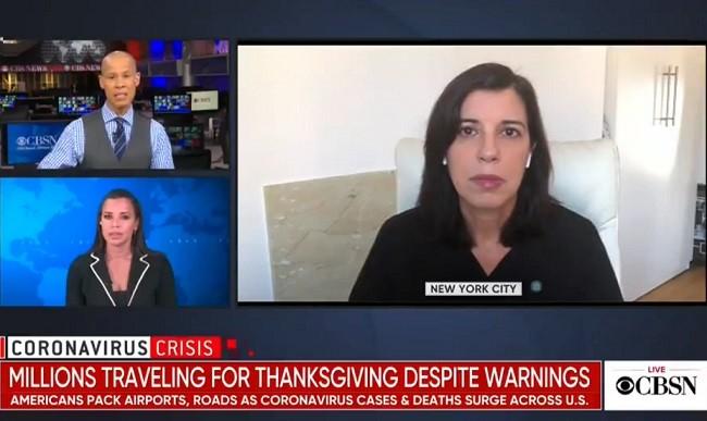 CBS correspondent Vladimir Duthiers (top left), Dyan Hes (right) (CBS News screenshot)