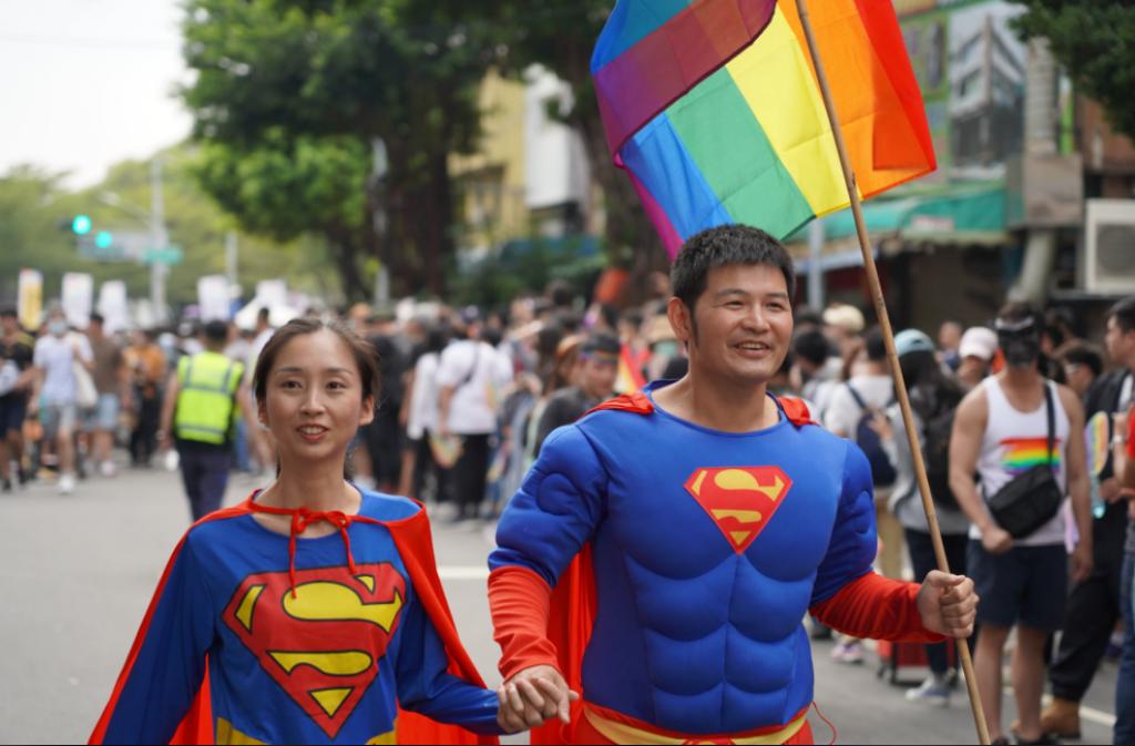Participants in Saturday's Kaohsiung Pride parade (Facebook, KaohsiungPRIDE photo)