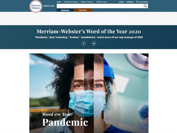 (Merriam-Webster website screenshot)