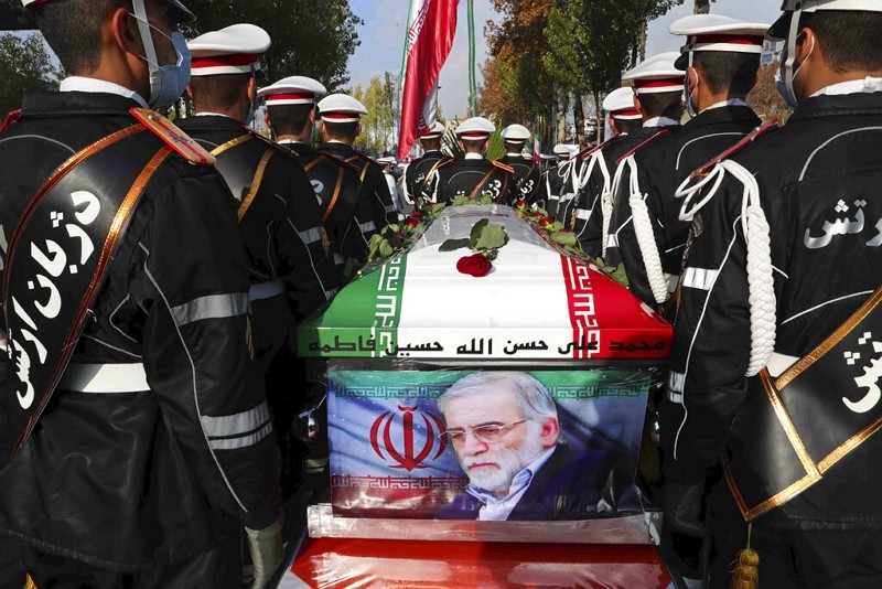 伊朗核武科學家法克里薩德葬禮(圖/美聯社)