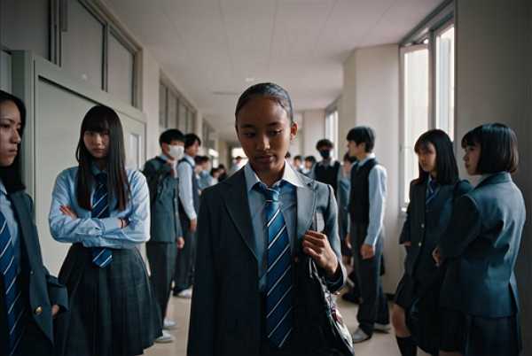 New Nike commercial shows biracial students bullied at school. (Nike Japan YouTube screenshot)